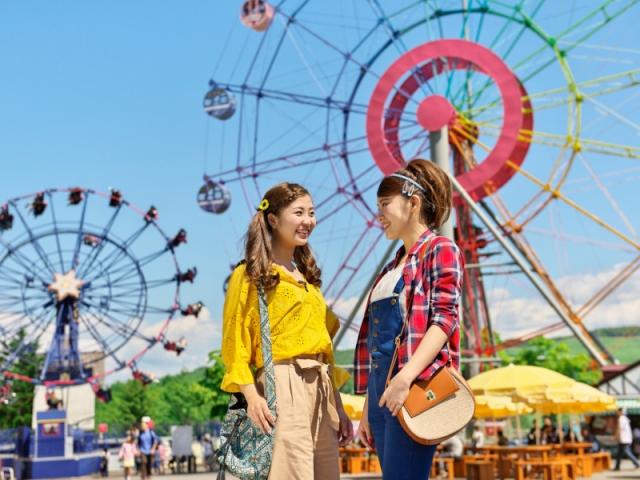 【カラフル・ルスツ】ラッキーカラーを身に着けて遊園地で遊ぼう!