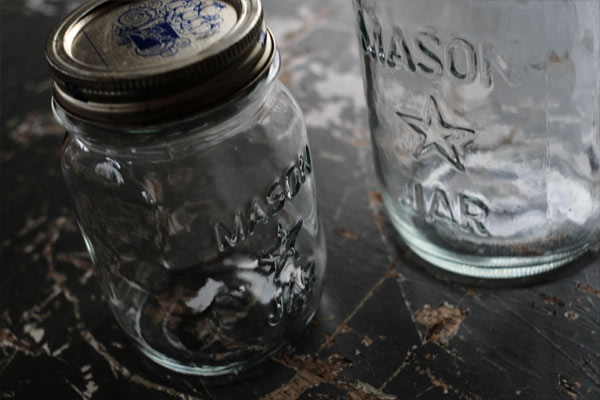 Vintage One Star Mason Jar
