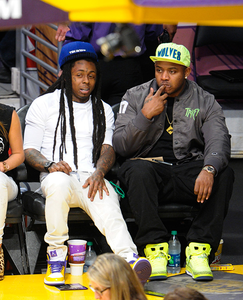 lil-wayne-in-the-air-jordan-1-white-purple-yellow-and-mack-maine-in-the-jordan-spizike-bhm.jpg