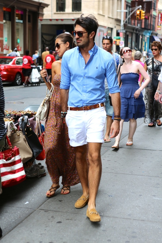 Summer Outfit White Shorts Men