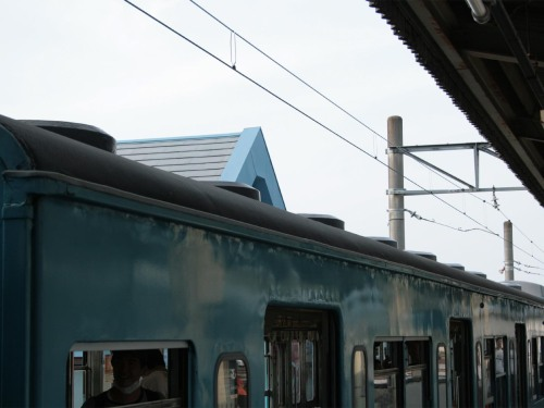 Ventilators on the roof of Chichibu Railway 1000 Series
