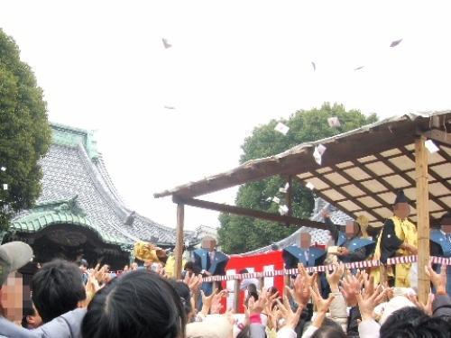 葛飾 柴又帝釈天 節分 豆まき 画像 2014012.jpg