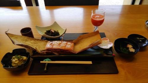 04-16 2.萩の庵にて「鯛の押し寿司」ランチ