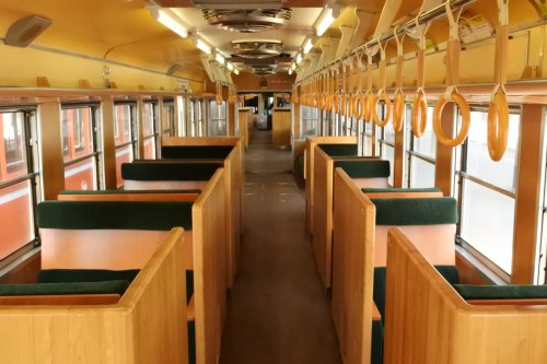 Interior of Ichibata Electric Railway 5000 Series