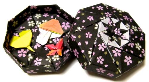 簡単 折り紙:折り紙 箱 八角形-plaza.rakuten.co.jp