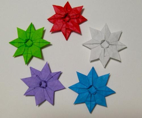 クリスマス 折り紙:折り紙 雪の結晶-plaza.rakuten.co.jp