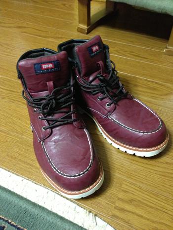 靴買いました(*゚▽゚*)【EDWIN×Green box】メンズワークブーツ