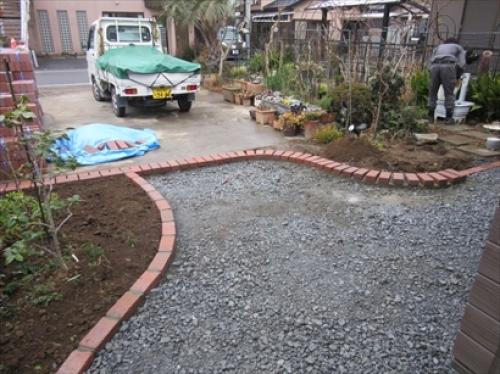 お庭の玉手箱アンティークレンガブラウン