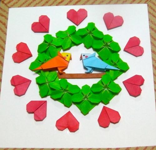 ハート 折り紙 壁飾り 折り紙 : plaza.rakuten.co.jp