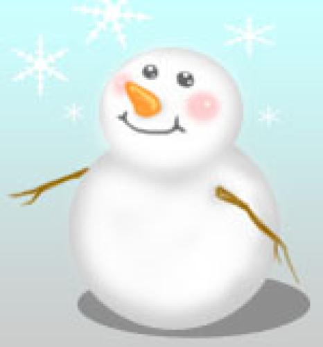 雪ダルマ1