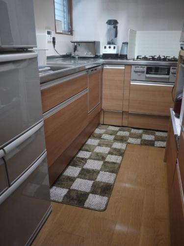 キッチン ニトリ キッチンマット : キッチンマットを変えました ...