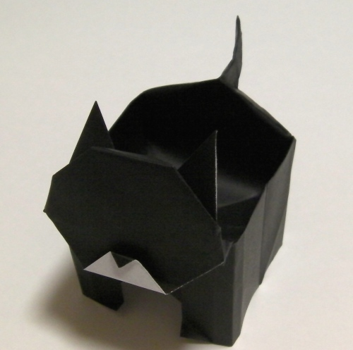 すべての折り紙 折り紙 ネコ : 折り紙 箱 ネコ   kawaiiiroiroの ...