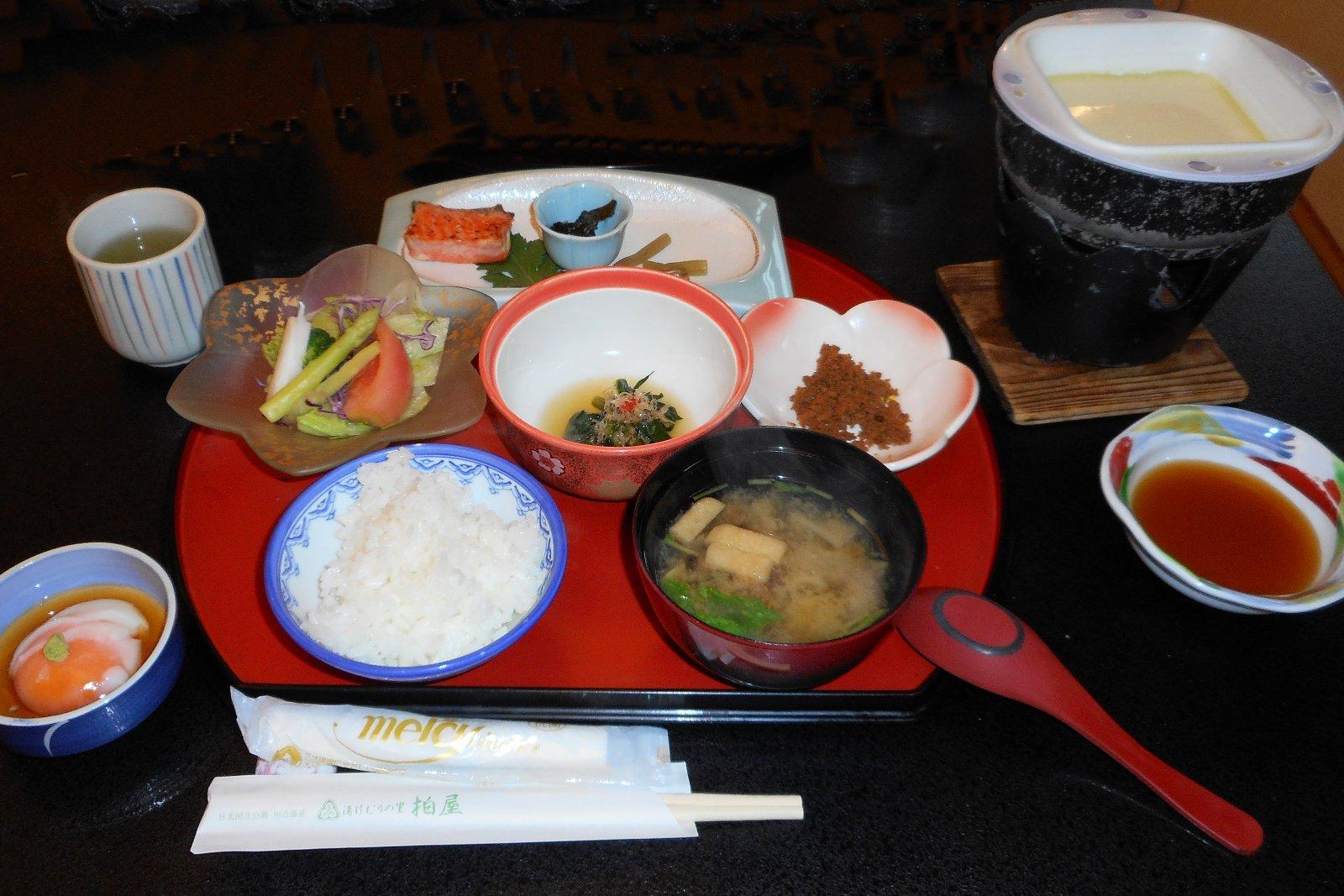 breakfast at Yukemuri no Sato Kashiwaya