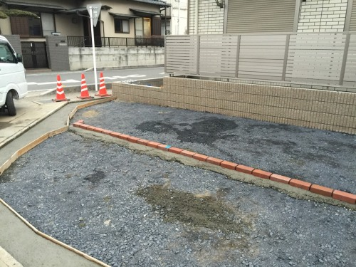 熊谷市N様アパート駐車場施工
