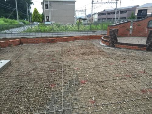 下地コンクリート用のメッシュ