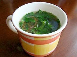 血液さらさら~☆ねばり海藻入り玉葱スープ