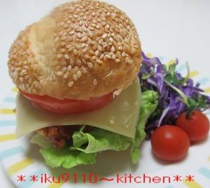 トマトソースのメチャうま♪チーズハンバーガー♪