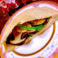 大根葉の栄養満点スピナッチ風サンド
