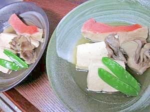 圧力鍋の2段料理☆中カゴで「金目鯛の酒蒸し豆腐」
