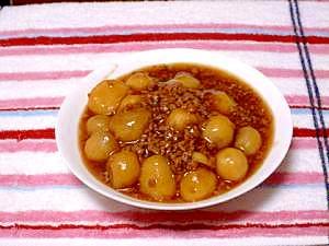 簡単!里芋と挽き肉のとろとろ煮