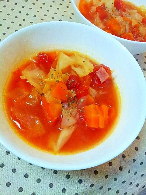春野菜のトマトスープ♪