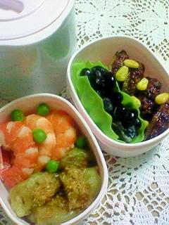 市販の冷凍食品を使ってお弁当 低カロリー 女性向き