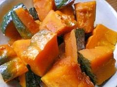圧力鍋でかぼちゃの煮付け