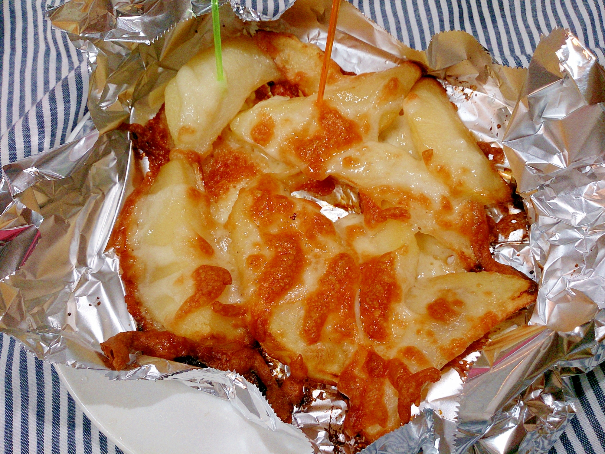 コンソメポテトのカリカリチーズ焼き(ノンフライヤー