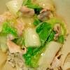 白菜と豚バラのうま煮丼