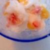 いちごとオレンジのミルクシャーベット
