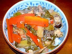 わけぎたっぷり!!野菜たっぷりすき焼き風丼