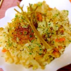 パセリの軸も美味しい簡単香味野菜ピラフ
