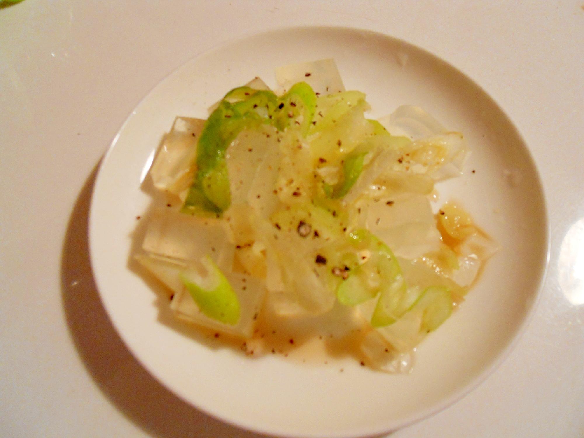 こってり系 炒め葱&マーガリンで寒天サラダ