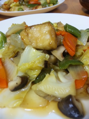 メカジキで♪野菜たっぷり簡単酢豚風