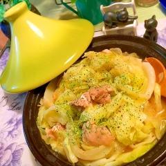 キャベツと鶏肉のレモンヴィネガータジン