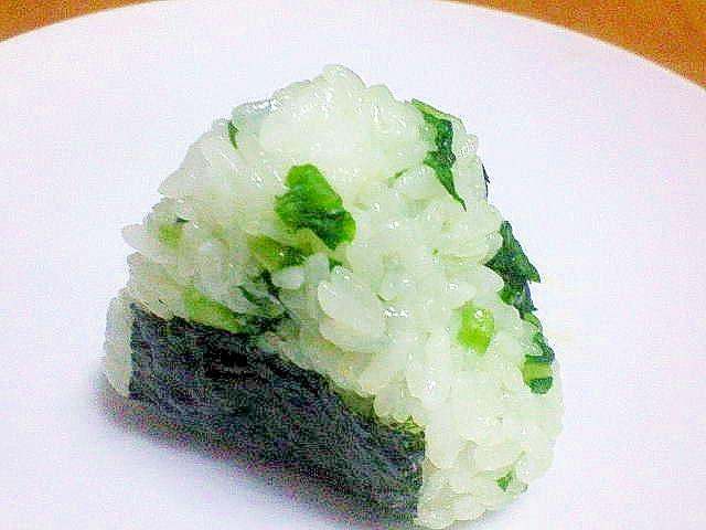 神奈川県「間引き菜のおにぎり」~鎌倉野菜使用~
