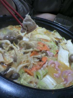 市販の豆乳鍋スープ使用!坦々鍋