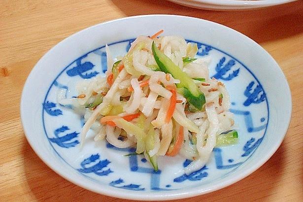 寿司酢で切り干し大根の酢の物
