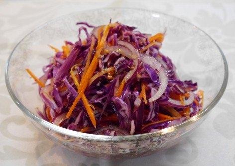彩り鮮やか♪紫野菜のコールスロー