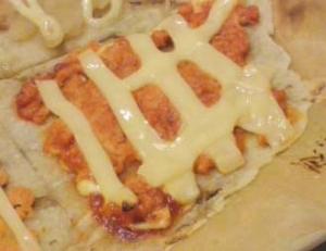 鮭フレークde簡単ピザ