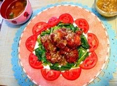 モスチキン風、鶏むね肉の一口ザクザク塩麹から揚げ