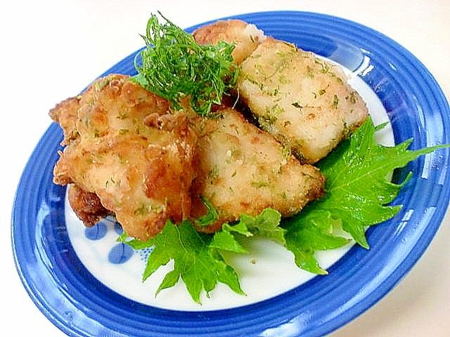 柔らかジューシー 鶏ムネ肉の磯辺揚げ
