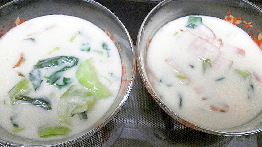 チンゲンサイのクリーム煮