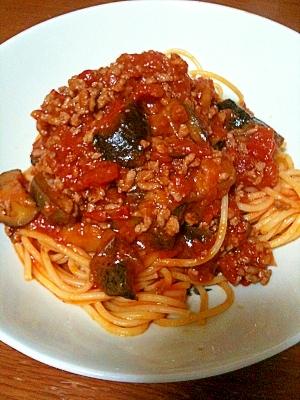 なすと挽き肉のトマトスパゲッティ レシピ・作り方 by くみゃあ|楽天レシピ