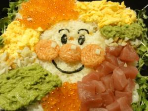 お誕生日に!キャラクターちらし寿司♪