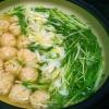 おつゆも美味しい~!水菜のはりはり鶏団子鍋♡