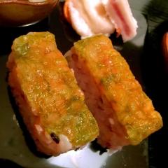 昆布じめ甘海老の押し寿司
