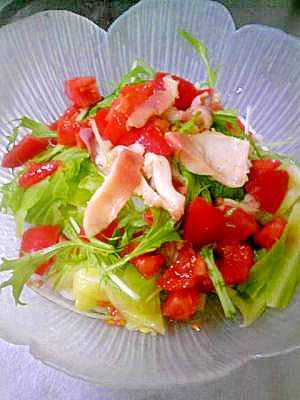 ほっき貝とキャベツのホットサラダ