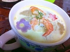 冬瓜と海老のまろやかクリームスープ