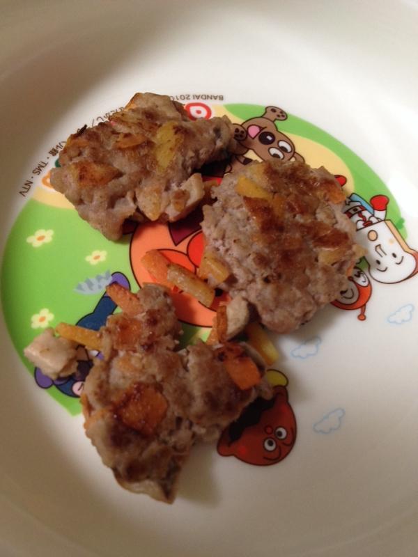 離乳食☆合挽き肉の野菜ハンバーグ